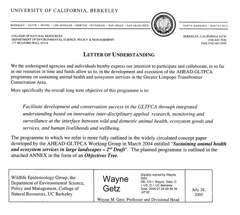 Ahead Gltfca - Letters Of Understanding