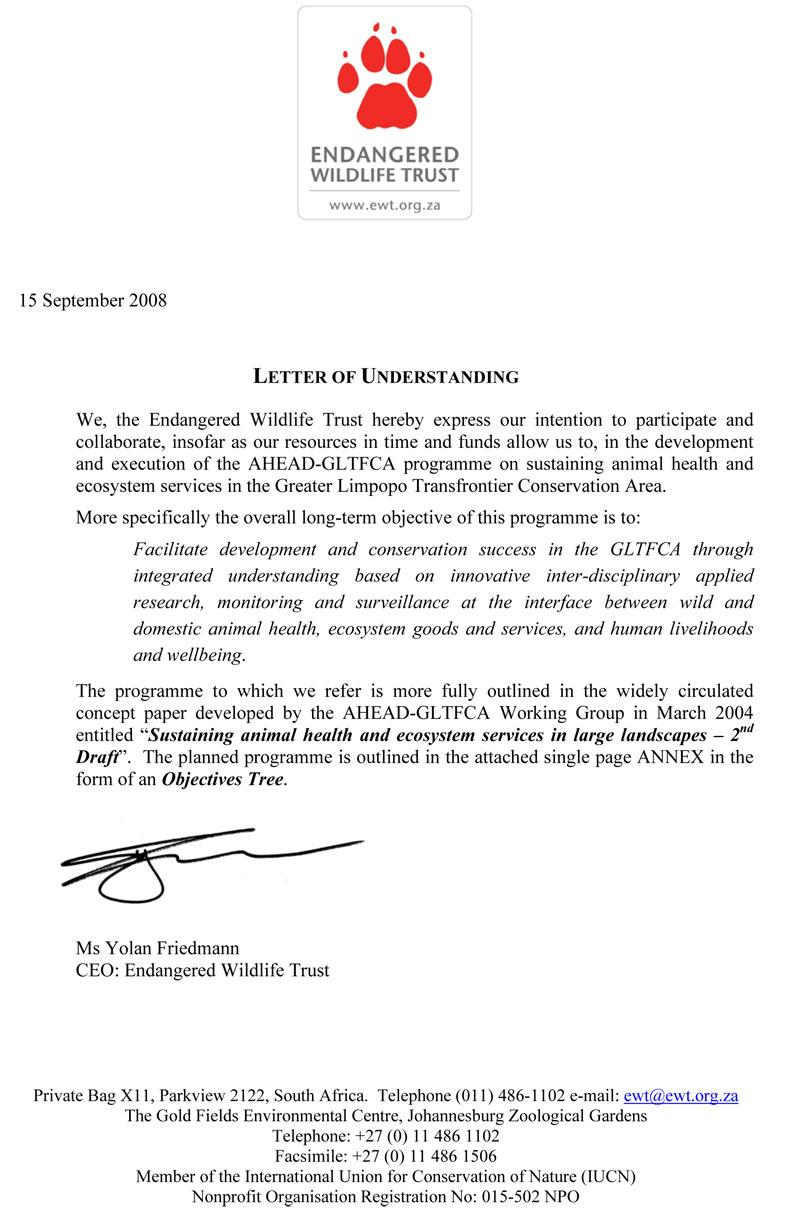 Ahead Gltfca  Letters Of Understanding